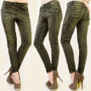 ingrosso Jeans: B16453 PANTALONI  JEANS glamour, cuciture oblique