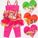 Großhandel Kinder- und Babybekleidung: A19116 Sommer Set für Mädchen von 4-12 Jahren