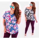 wholesale Shirts & Blouses: C11518 Summer Plus Size Blouse, Pattern: Magnolias