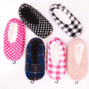 wholesale Fashion & Apparel: Velor Ballerina Slippers 35-42, Pattern Mix, 4892