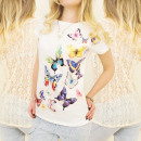 groothandel Kleding & Fashion: C11183 kanten  blouse, katoen, FABULOUS VLINDERS