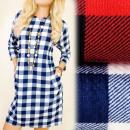 C11291 losse jurk, tuniek herfst, Lattice