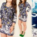 groothandel Kleding & Fashion: C1784 KATOENJURK, TUNIEK OVERSIZE