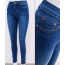 B16746 Damen Jeans, Skinny Pants, Knöpfe