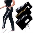 nagyker Sport és szabadidő: Női sportnadrág, edzőruha csíkos, S-XL,