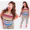 ingrosso Ingrosso Abbigliamento & Accessori: B18257 Camicetta, cotone , taglie forti, strisce r