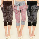 wholesale Trousers: 3830 CHARMING  STRIPED SHORTS, MIX WITH BOW