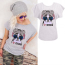 K579 Cotton T-Shirt , Top, I Love Music Gray