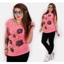 wholesale Fashion & Apparel: B18247 Ladies  Blouse Top cotton, Plus Size,Daisies