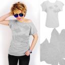 Großhandel Shirts & Tops: A890 T-Shirt Baumwolle, Top, Subtle Roses, Grau