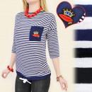 Großhandel Fashion & Accessoires: BI250 SEEMANN  Bluse,  Streifenmuster, ...