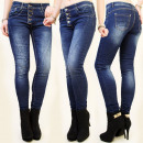 ingrosso Jeans: PANTALONI B16432  Donne, JEANS, bottoni, cuciture