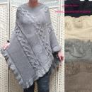 wholesale Pullover & Sweatshirts: Women's Poncho, Sweater, Braids Pattern, ...