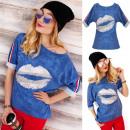 Großhandel Fashion & Accessoires: BI668 Lose  Oversize  Sweatshirt Bluse, ...