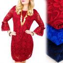 Großhandel Kleider: C24183 Made in  Italy - Kleid mit Schleifen