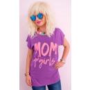 K536 Bawełniany T-Shirt Frauen, Top, Mutter von Mä
