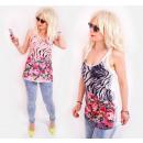 grossiste Vetement et accessoires: BB166 Blouse ample, top d'été, motif ...