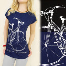 K374 COTTON  BLOUSE, TOP, SAY YES TO THE BIKE