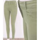 Großhandel Hosen: B16779 Klassische Damenhose, Jeans Skinny, Oliv