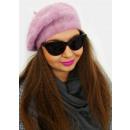Großhandel Kopfbedeckung: A1271 Flauschiges Barett mit Angora, klassische Li