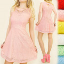 wholesale Dresses: BI357 flared  DRESS, NECKLACE, LACE