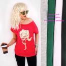 Großhandel Fashion & Accessoires: Baumwoll-Damenhemd bis 4XL, Top, Rose N085