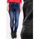 Leggings Jeans C17536, pantaloni Leggins con pile