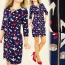 Großhandel Kleider: BI145 Kleid, high Heels PARTY, GOLD SLIDER