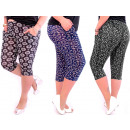 Bamboo Pants Women, Length 1/2, M-6XL, 5540