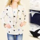 Großhandel Hemden & Blusen: Damenbluse, M-2XL, Sternenmuster, 5126