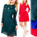 C24181 Wonderful, Lace Dress, Made in Italy