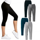 wholesale Trousers: Bamboo 3/4 leggings, Sporty Line, M - 2XL, 5465