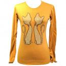 hurtownia Fashion & Moda: Sweter Damski, Srebrne Dżety, Kotki, 6949