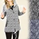 BI107 chaqueta de  moda, ropa, botones, CAMPANA
