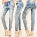 Großhandel Jeanswear: B16552 Effektive,  zerknitterte Jeans, Tubes