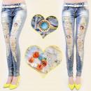 wholesale Fashion & Mode: B16470 glamorous  PANTS, JEANS, HOLE, PENDANTS