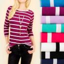 mayorista Ropa / Zapatos y Accesorios: D2666 blusa de algodón, rayas encantadoras