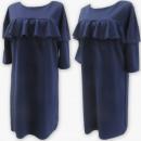 Großhandel Kleider: D4073 Kleid, Made in Poland, 48-54, Marineblau