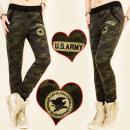 BI215 MORO Donna  Pantaloni, emblemi US ARMY