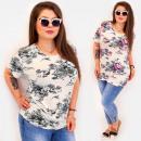 Großhandel Hemden & Blusen: C11525 Schöne Plus Size Damen Bluse, Kolibris