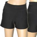 Großhandel Hosen: F563, Shorts, glatte, schwarze