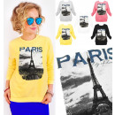 Großhandel Pullover & Sweatshirts: A867 Frauen Sweatshirt, Print: Paris City of Lover