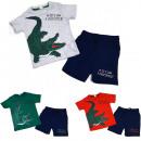 Készlet fiúnak, ing és rövidnadrág, krokodil 98-11