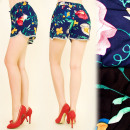 wholesale Shorts: FL491 Light  Shorts, Printed - Painted Flowers