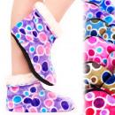 wholesale Shoes: 4197 Velor Warm Slippers, Fur, Juicy Colors
