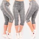 Großhandel Hosen: C17683 Damen 3/4 Hosen, Casual Sport Style