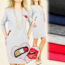 groothandel Kleding & Fashion: BI204 sweatshirt  DRESS, uniformjas, KISS & LIP
