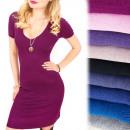 4222 Romantikus ruha, gyönyörű V nyakkivágás, puló
