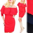 Großhandel Kleider: C24245 Bleistiftkleid mit Rüschen, elegante ...