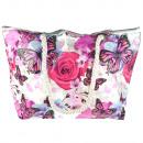 wholesale Bags & Travel accessories: Beach Women's Shopper Bag, Roses, T79